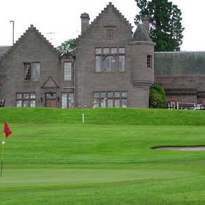 The Murrayshall Course at Murrayshall Golf Club - 18th Green and Hotel