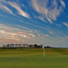 A view of green #4 at Craighead Links Course from Crail Golfing Society
