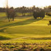 A sunny view of green #10 at Pitreavie Golf Club