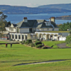 A view of the clubhouse at Helensburgh Golf Club