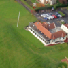 Aerial view of the clubhouse at Sandyhills Golf Club