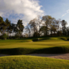 A view of a hole protected by sand traps at Roxburghe Hotel and Golf Course