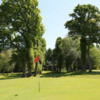 A sunny day view of a hole at Callander Golf Club