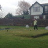A view of a tee at Wigtown and Bladnoch Golf Club