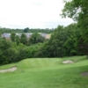 A view of a green protected by bunkers at Calderbraes Golf Club (Golfboo)