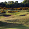 A view of the bunkers at Leven Links Golf Club